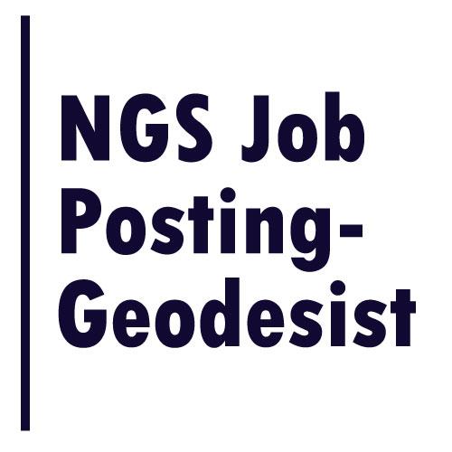 NGS Job Posting – Geodesist