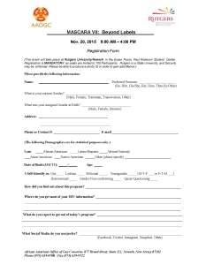 2015 Registration Form
