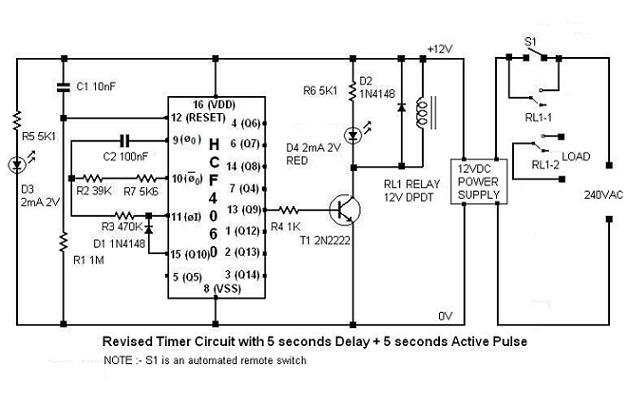 555 timer delay before turn off circuit