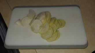 Radish slices