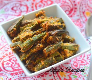 Stuffed okra (Bharil bhende)