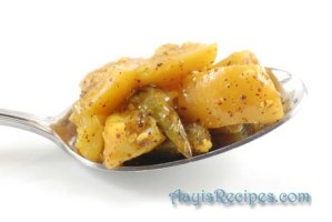 Lemon/Lime pickle (With Green chillies)