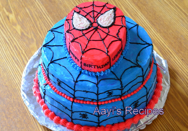 Cake Images Spiderman : Spiderman Cake - Aayis Recipes