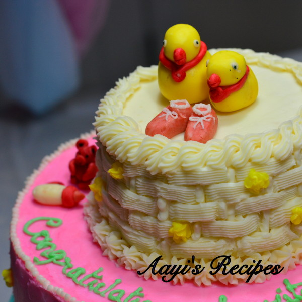 animal themed baby shower cake5