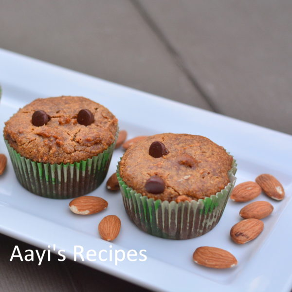Dates Almond Oats Cupcakes