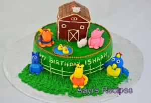 Backyardigans go to Old MacDonald farm cake