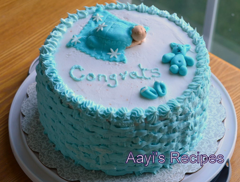 Sleeping baby under blanket baby shower cake aayis recipes for Baby footprints cake decoration