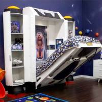 Baby Furniture & Bedding Spaceship Kids Wall Bed