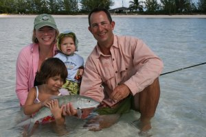 Bone fishing the flats at Casuarina Point - a family affair. :)