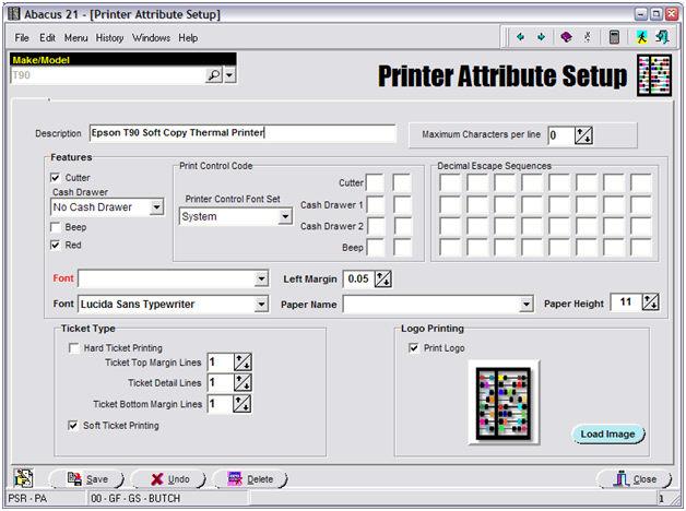 Point-of-Sale Printer Setup - printable ticket paper