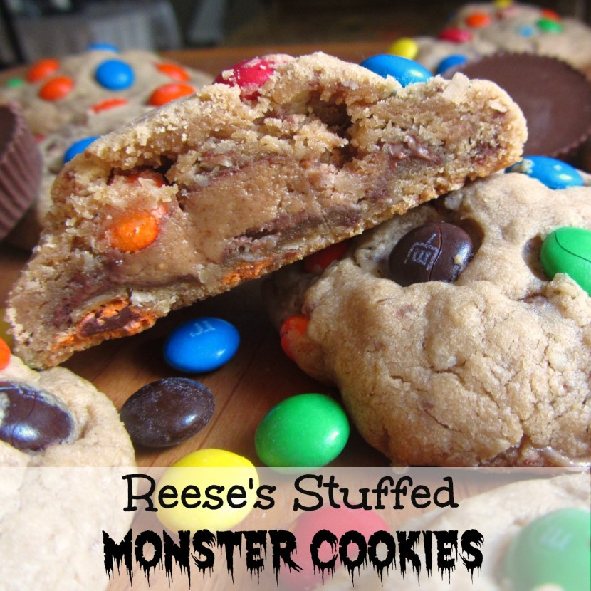 Reeses Stuffed Monster Cookie