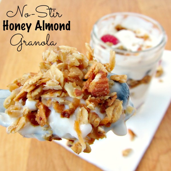 No-Stir Honey Almond Granola | A baJillian Recipes