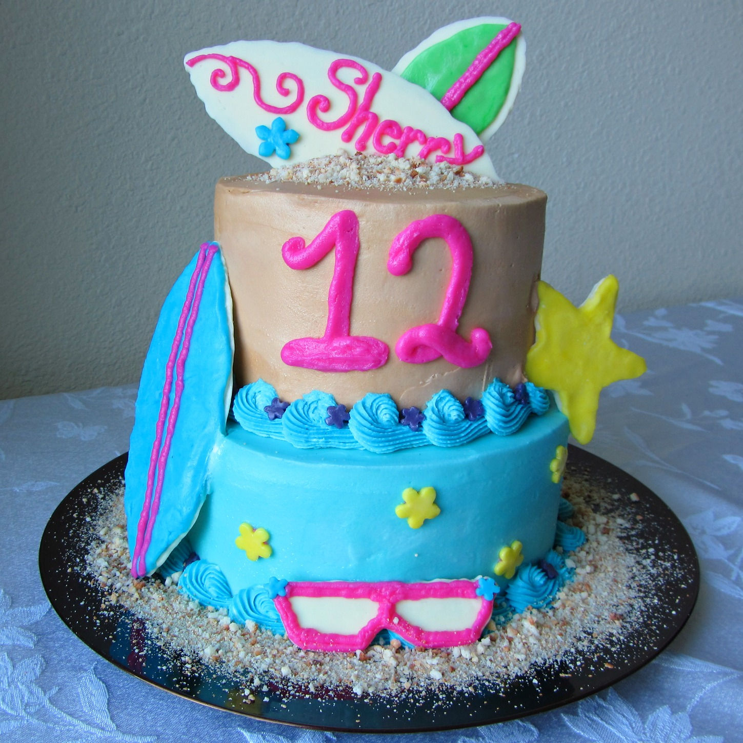 Beach Party Birthday Cake A Bajillian Recipes