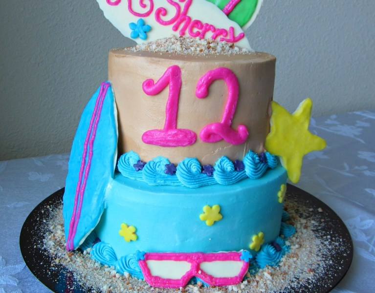Beach Party Birthday Cake | A baJillian Recipes