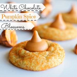 White Chocolate Pumpkin Spice Blossoms