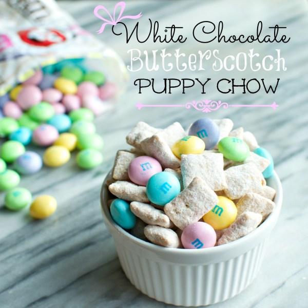 White Chocolate Butterscotch Puppy Chow | A baJillian Recipes