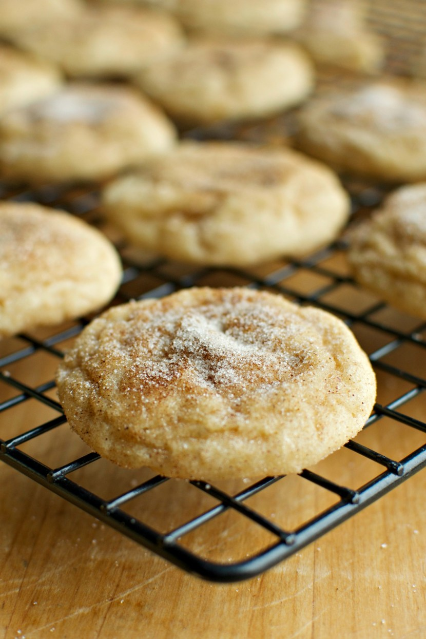 Soft & Thick Eggnog Snickerdoodles | A baJillian Recipes