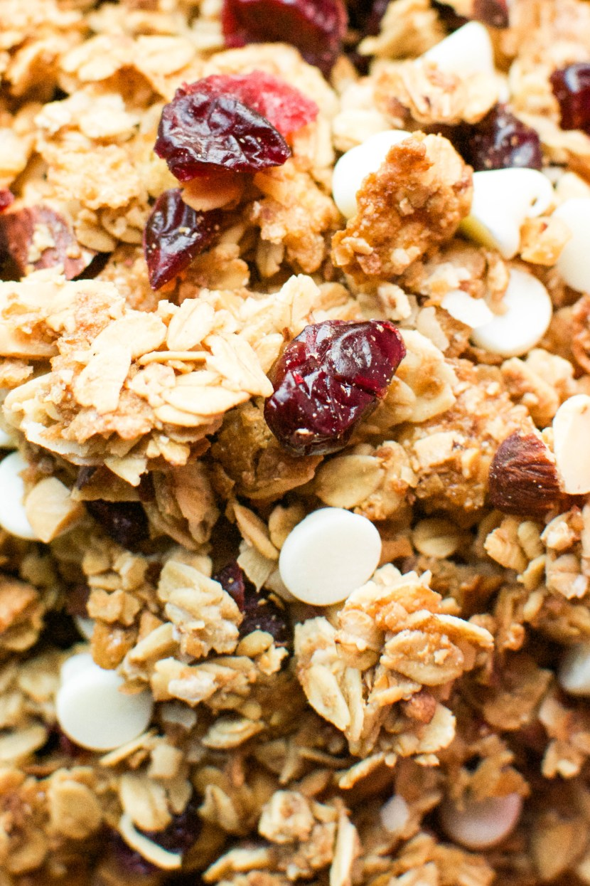 White Chocolate Cranberry Granola - A baJillian Recipes
