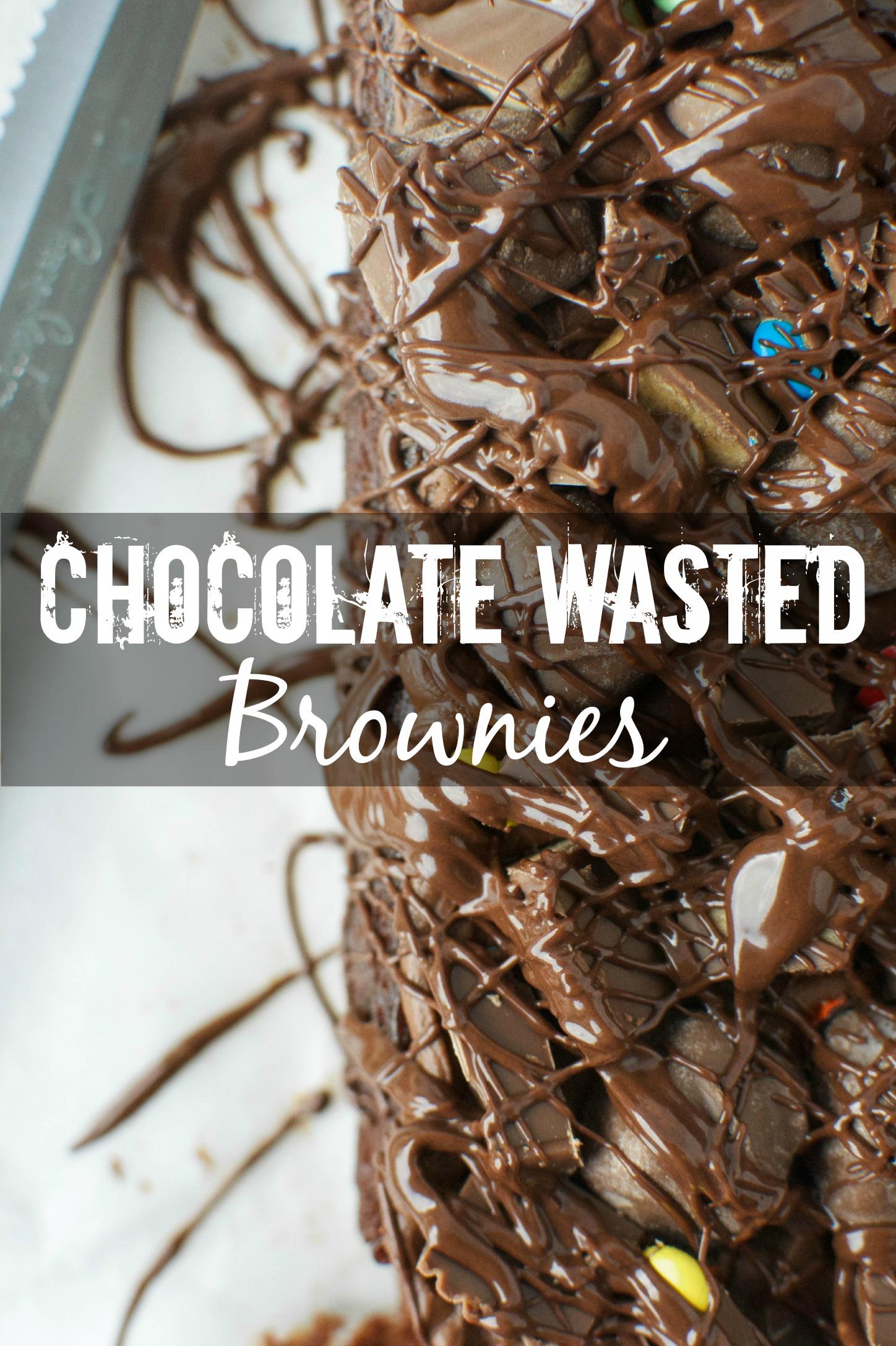 Chocolate Wasted Brownies - A baJillian Recipes