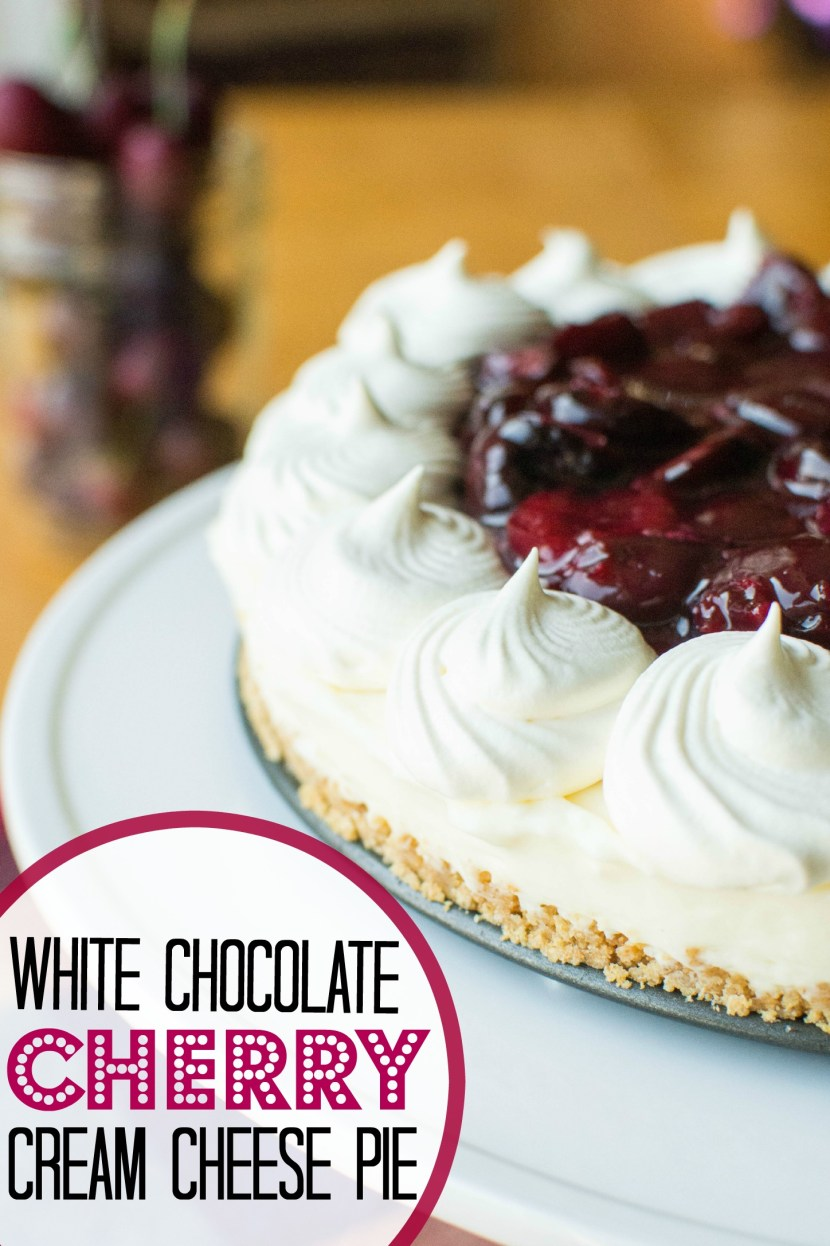 White Chocolate Cherry Cream Cheese Pie | A baJillian Recipes