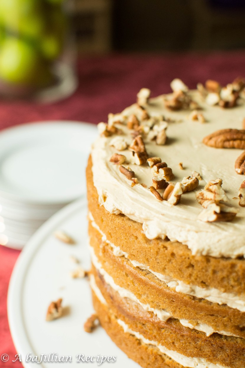 Fresh Pear Cake with Whipped Brown Sugar Buttercream | A baJillian Recipes