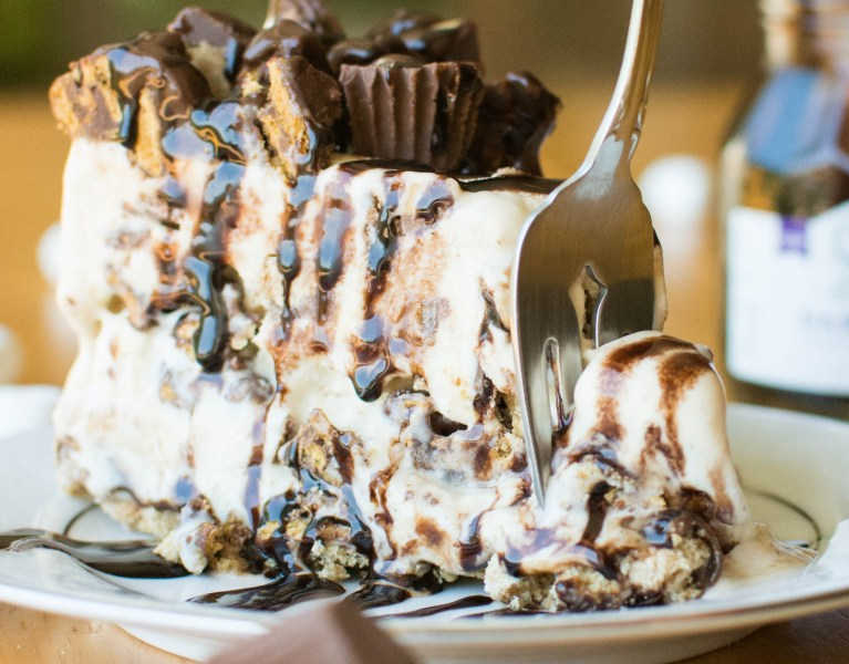 Peanut Butter S'mores Ice Cream Cake | A baJillian Recipes