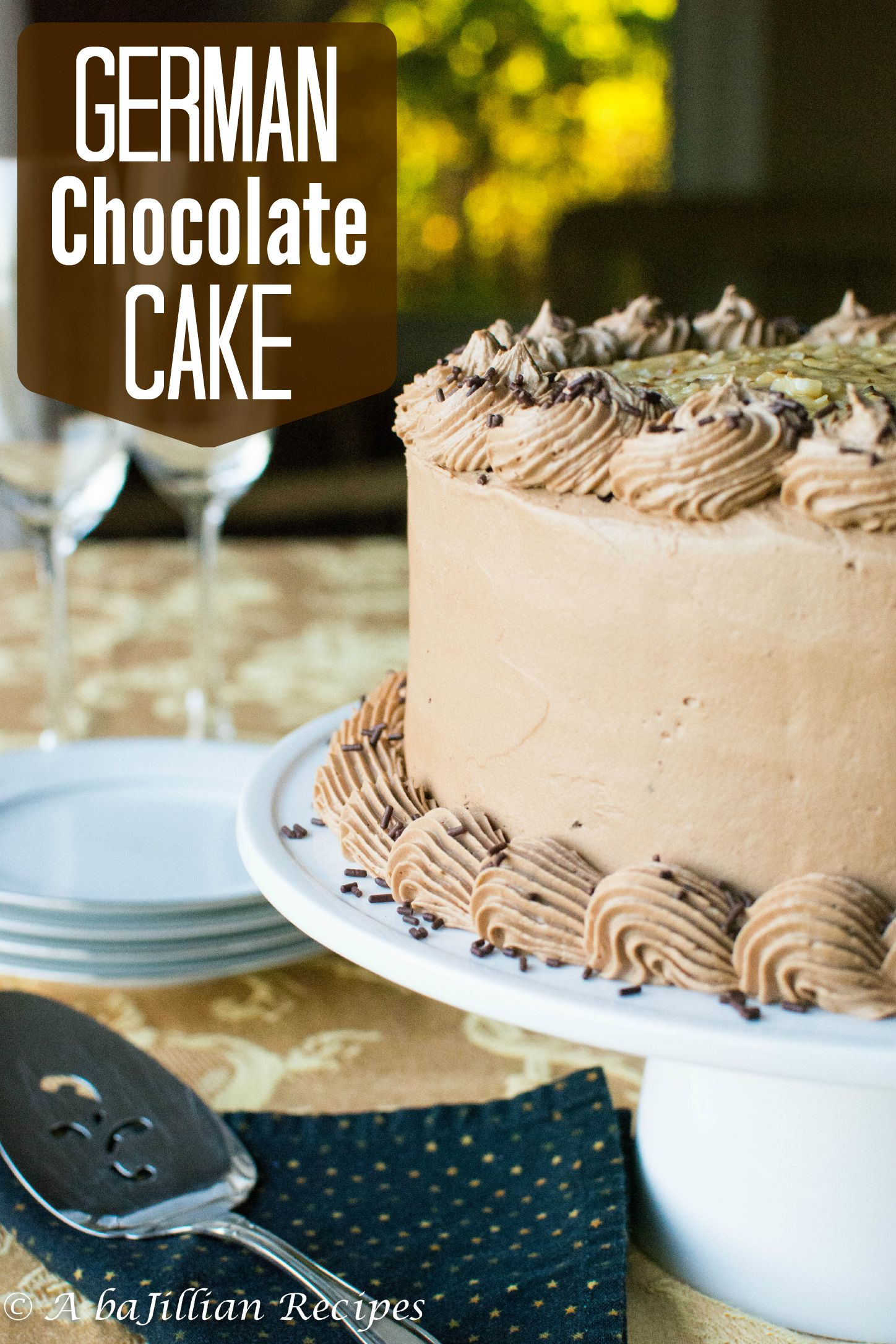 German Chocolate Cake - A baJillian Recipes