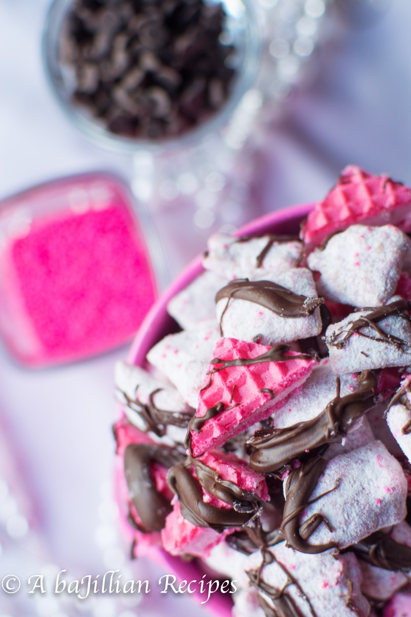 Chocolate Covered Strawberry Puppy Chow   A baJillian Recipes
