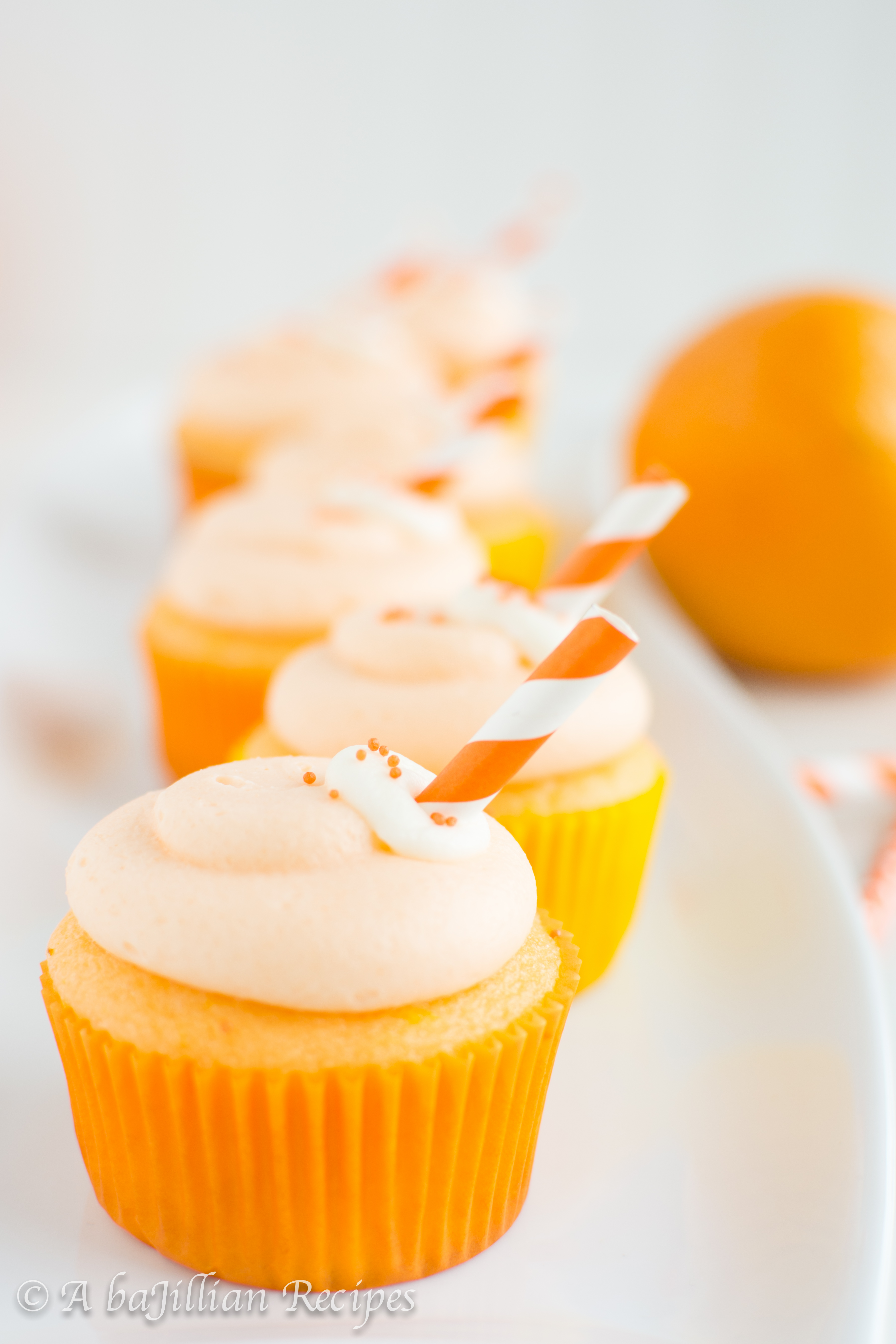 Orange Creamsicle Cupcakes - A baJillian Recipes
