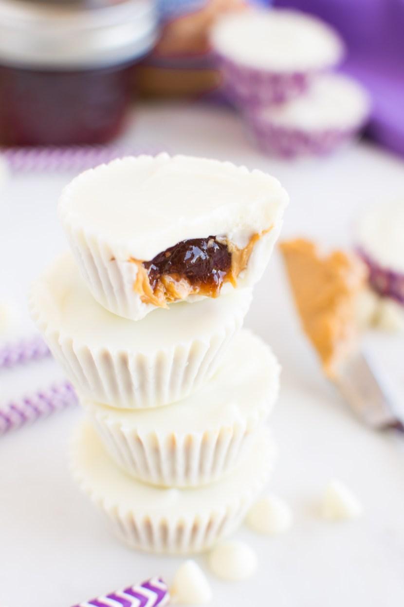 White Chocolate PB&J Cups | A baJillian Recipes-13