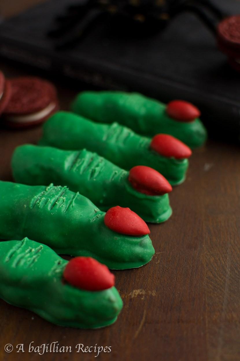 Red Velvet Oreo Truffle Witch Fingers - A baJillian Recipes-4