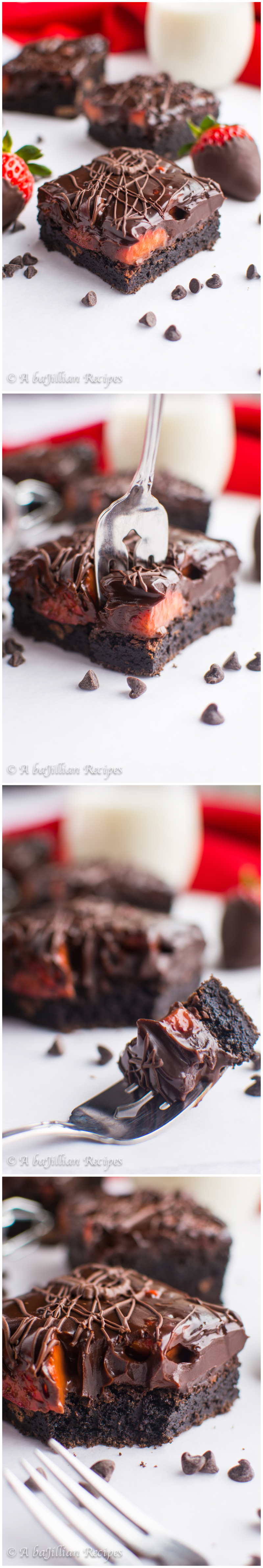 Chocolate-Covered Strawberry Brownies   A baJillian Recipes