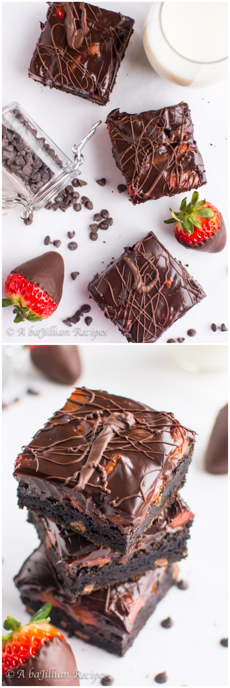 Chocolate-Covered Strawberry Brownies   A baJillian Recipes3