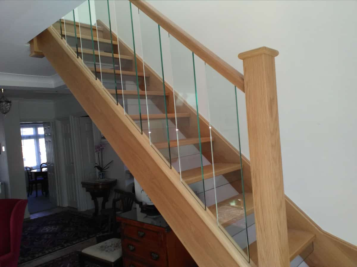 Case Study A New Glass Spindle Oak Staircase In Guilford