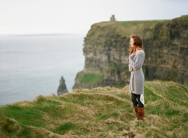 Dreaming About Wallpaper Falling Off Heather On Film Portraits At The Cliffs Of Moher County