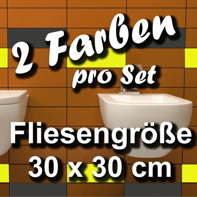 Fliesenaufkleber 1qm Fliesenfolie Badezimmer 30x30   Badezimmer Klebefliesen