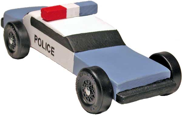 Police Pinewood Derby Car Design - pinewood derby template