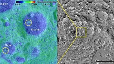 Los nuevos cráteres descubiertos