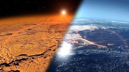Marte, hoy árido y polvoriento, tenía un aspecto muy distinto en el pasado