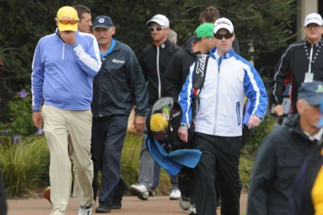 Jarrod Lyle tears up during his return to golf
