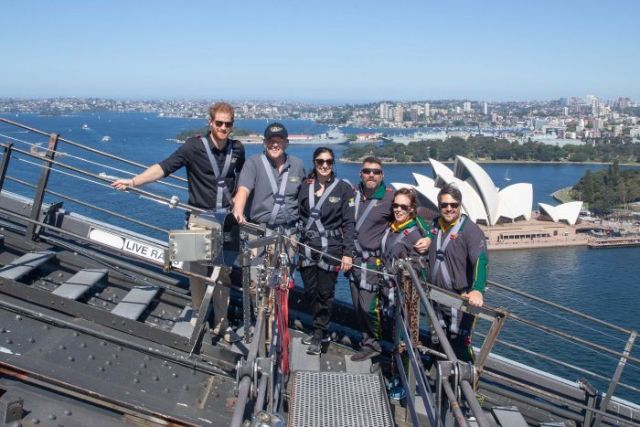 People on top of the Harbour Bridge