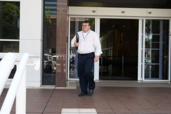 NT News general manager Greg Thomson leaves the NT Supreme Court on November 7, 2018.