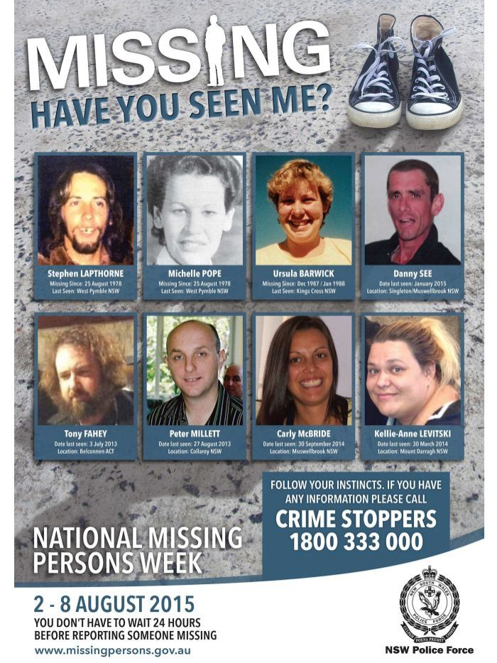 NSW Missing Persons Week poster for 2015 - ABC News (Australian