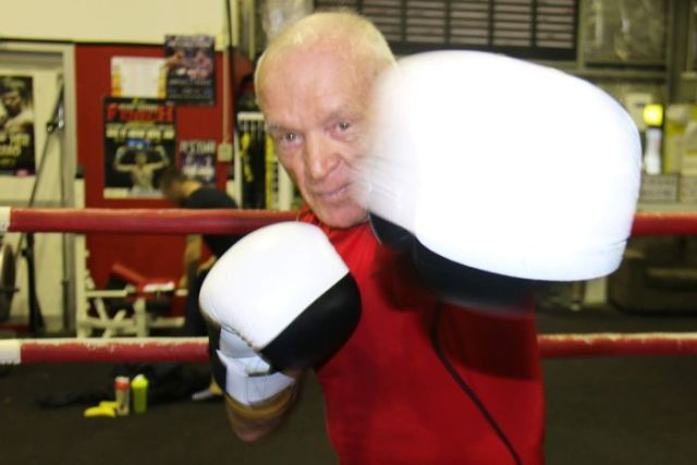 Australia's oldest amateur boxer Denis Cherry