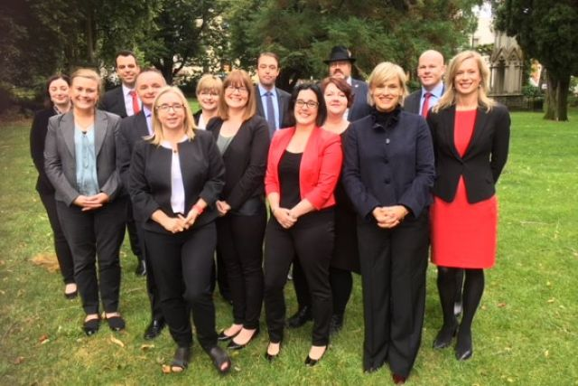 Tasmanian Labor shadow cabinet pose for the camera, March 2018.
