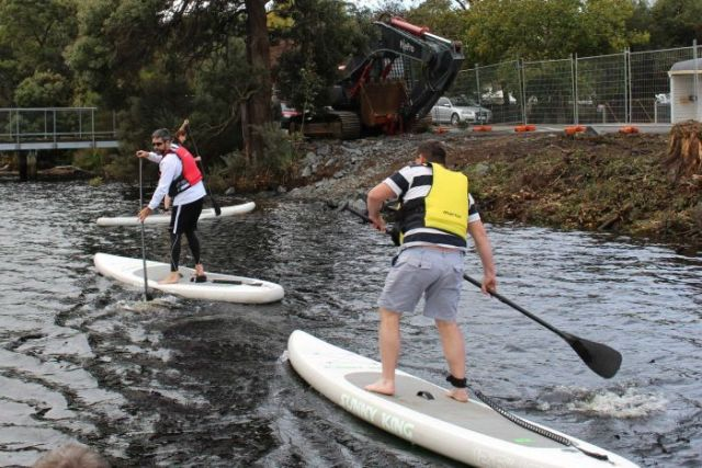 Paddleboarding on the Derwent
