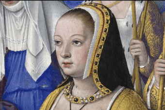 Historical portrait of Anne of Brittany, Queen of France