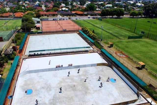 The Street roller hockey league's pitch at Bayswater bowling club