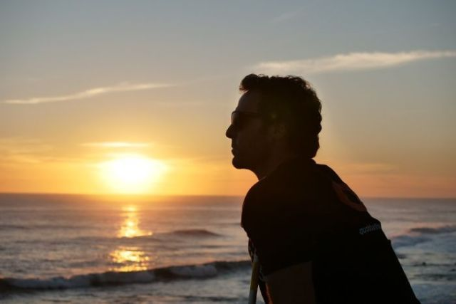 Alex Travaglini looks out over the ocean near Gracetown, where he was attacked by a shark