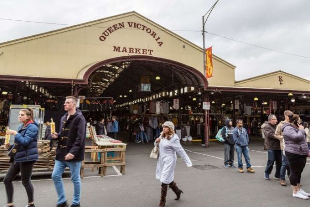 Crowds at Melbourne's Queen Victoria Market.